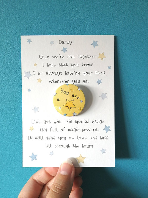 Holding your Hand Badge Set