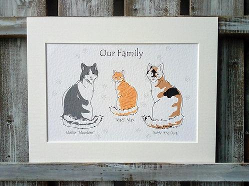 Cat Family Print