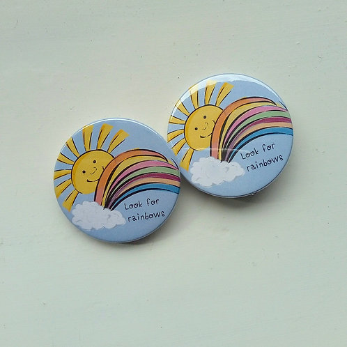Rainbow & Sunshine Badge