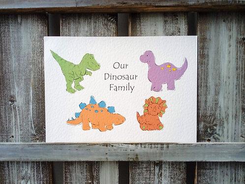 Dinosaur Family Print