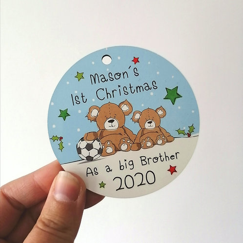 Big brother first Christmas decoration