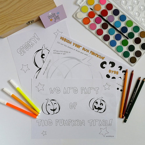 Pumpkin Colouring Pages!