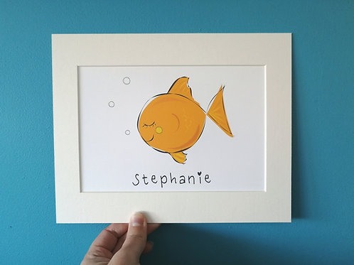 Gold Fish Card & Prints