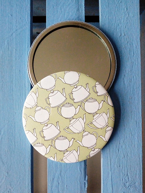 Tea Pots Pocket Mirror
