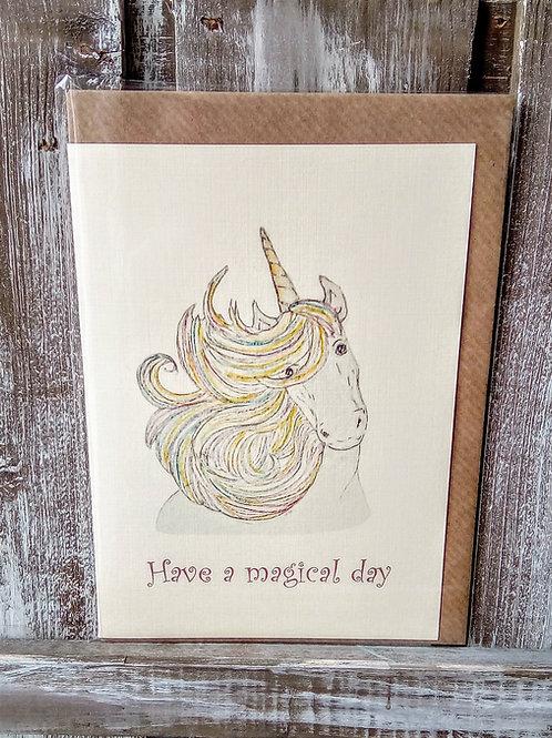 Unicorn Magical Day Card