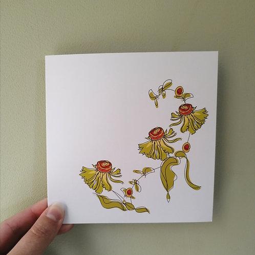 Helenium Floral Card