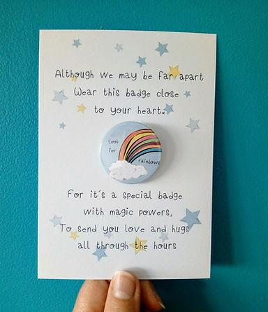 Look for rainbows badge set karen perry