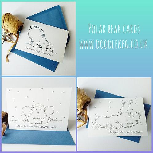 Polar Bear Christmas Card Pack