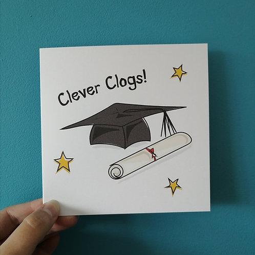 Clever Clogs Graduation Card