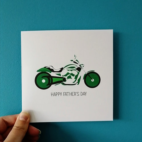 Motorbike Father's Day Card