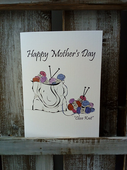 Mother's Day Knitting Card