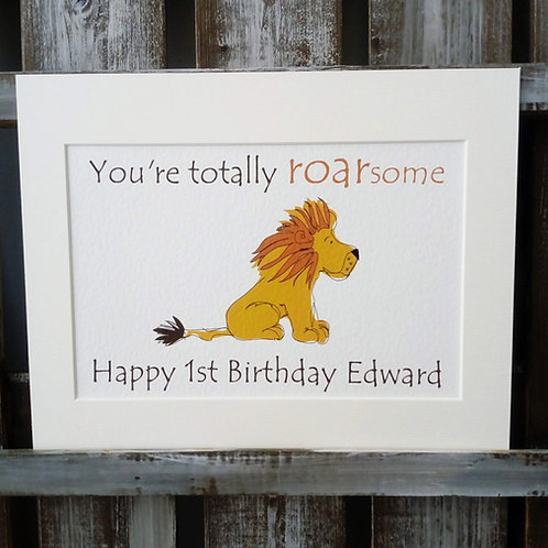 Lion Roarsome Card & Prints