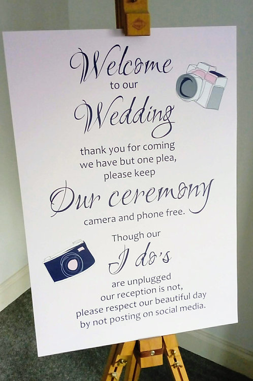 Wedding Welcome Social Media Sign