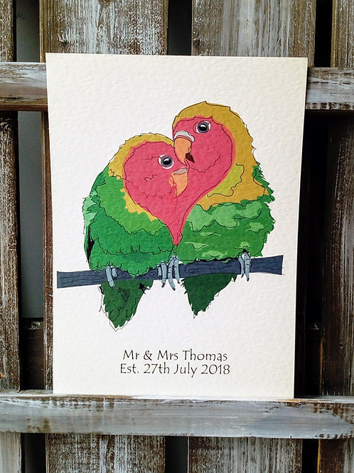 Love Birds Card & Print