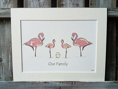 Flamingo Family Print