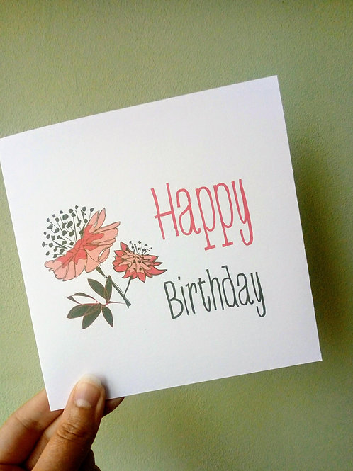 Astrantia Birthday Card