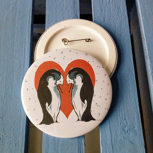 Penguin Couple Badge