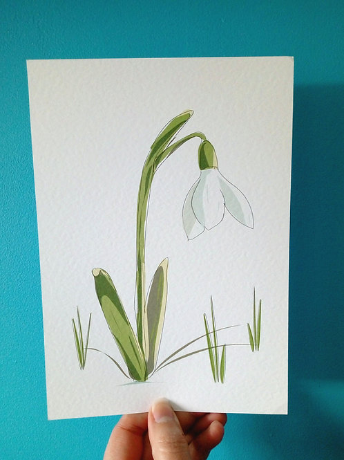 Snowdrop card and print