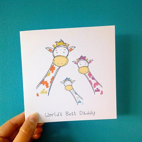 Giraffe World's Best Daddy Card