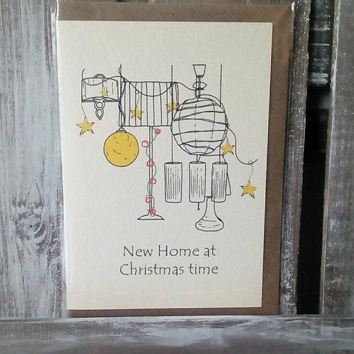New Home at Christmas Card