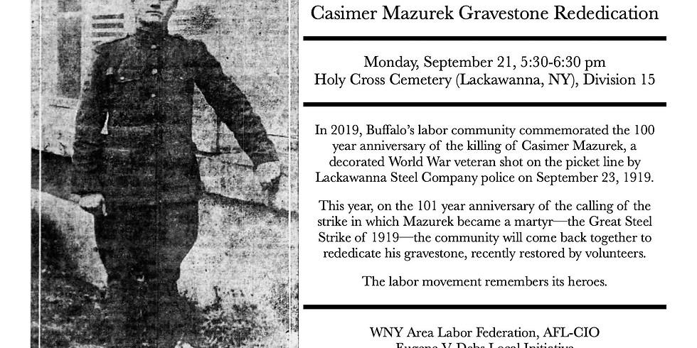 Casimer Mazurek Gravestone Rededication