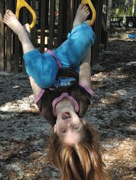 Having fun upside down.