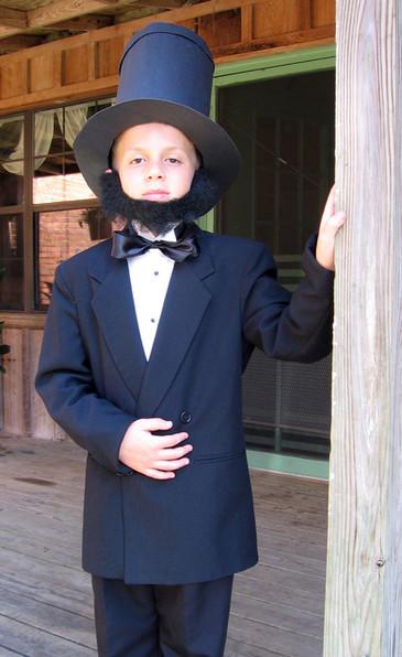 Teddy as Abe Lincoln