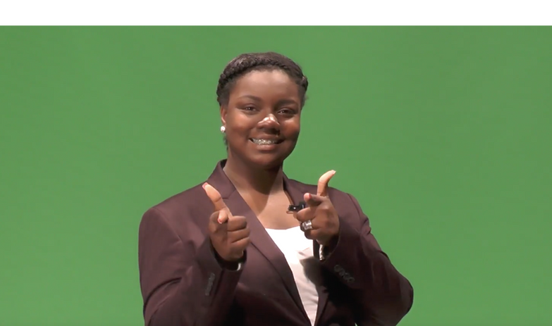 Nia's first Woodside Weather Appearance on Panther Pause News in 2016