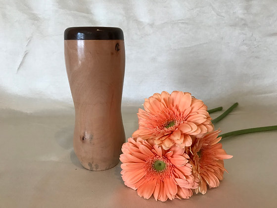 Maple and walnut vase