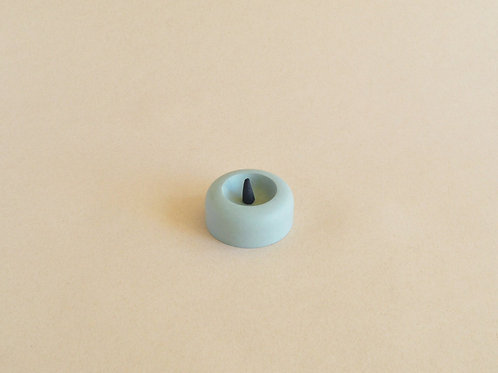 CONE CONCRETE INCENSE BURNER / Olive+Teal