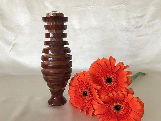 Locust wood bud vase