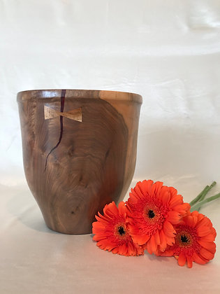 Walnut wood.  Bowl with hickory bow tie accent