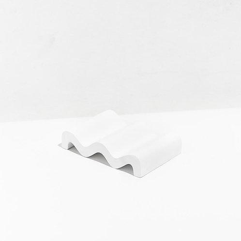 WAVE SOAP DISH / WHITE