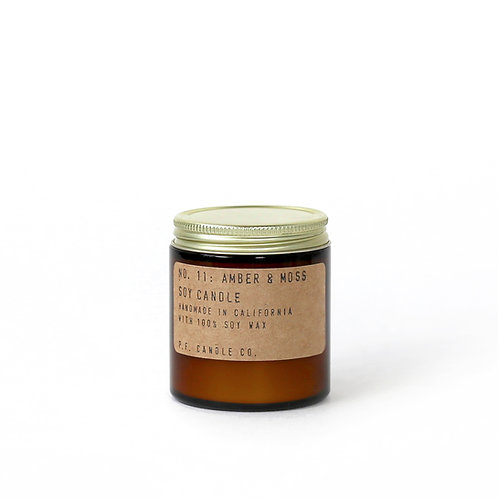 3.5oz Soy Wax Candle / 11 AMBER&MOSS