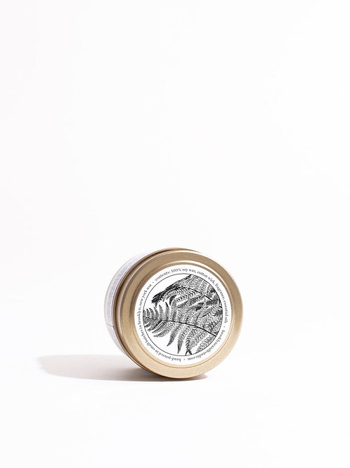 GOLD TRAVEL CANDLE / 04 FERN+MOSS