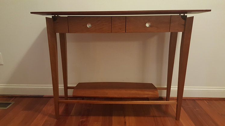 Cherry wood entryway table