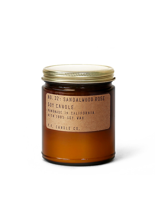7.2oz Soy Wax Candle / 32 SANDALWOOD ROSE