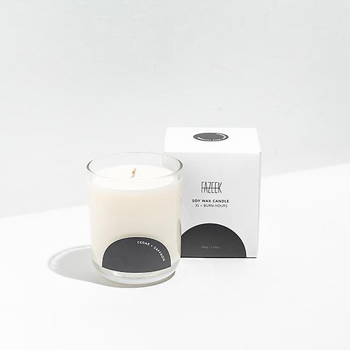 SOY GLASS CANDLES / CAMPFIRE SMOKE