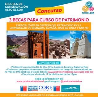 Ya tenemos los 3 ganadores de las becas para el curso de Gestión del Patrimonio en Iberoamérica