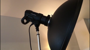 This photo is a picture of the main studio strobe for the model. It is a D2 Profoto Monoblock