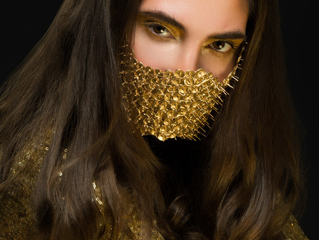 Thumbtack Mask Beauty Photoshoot