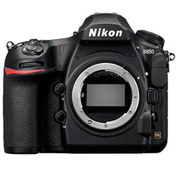 This is an image of the Nikon D850 camera body