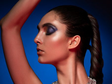 Beauty Shoot using Gels and a Beautiful Necklace