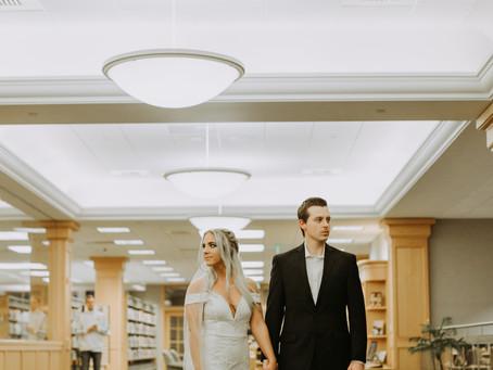 A Library Wedding | Clinton Township, MI