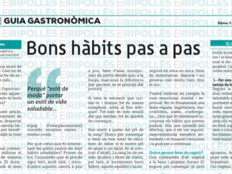 Bons hàbits pas a pas. Article diari el Ripollès! De la nostra consultora Marta Fosses Guitart