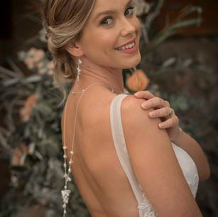 Romantic updo bride hairstyle