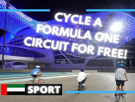 Exercise // Cycle, run or walk around Yas Marina Circuit in Abu Dhabi for free // UAE