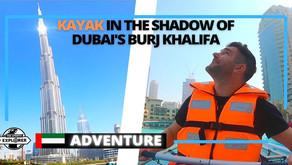Kayak in Downtown Dubai with stunning views of Dubai's Burj Khalifa // United Arab Emirates