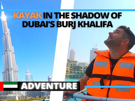 Kayak in Downtown Dubai with stunning views of Dubai's Burj Khalifa // United Arab Emirates