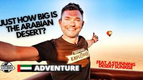 Adventure // Ride over Dubai's Arabian Desert in a Hot Air Balloon // United Arab Emirates